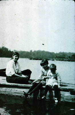 Sitting on a dock