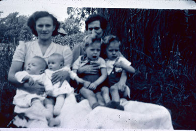 Two Mothers with Twins