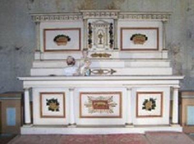 The altar at St. Gabriel's Church, Springtown