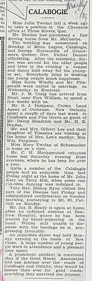 Calabogie News - May 16, 1919