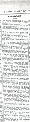 Calabogie News - April 25, 1919