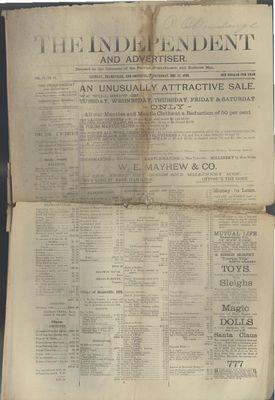 Grimsby Independent, 27 Dec 1888