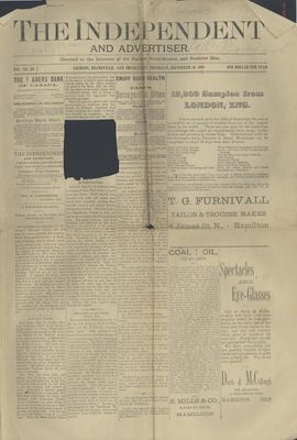 Grimsby Independent, 10 Sep 1891