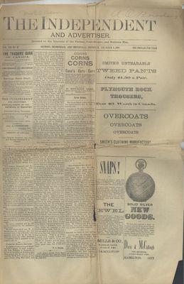 Grimsby Independent, 3 Dec 1891