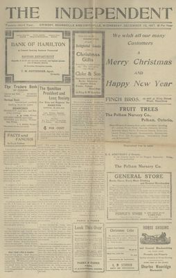 Grimsby Independent, 25 Dec 1907