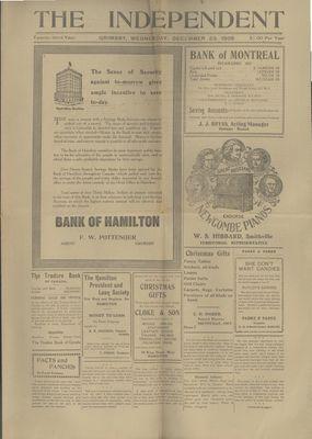 Grimsby Independent, 23 Dec 1908