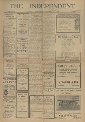 Grimsby Independent, 25 Jan 1911