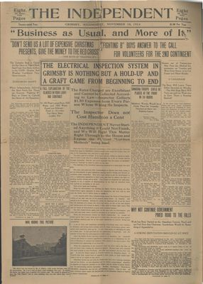 Grimsby Independent, 18 Nov 1914