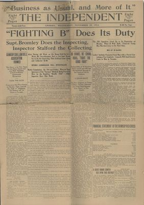 Grimsby Independent, 25 Nov 1914