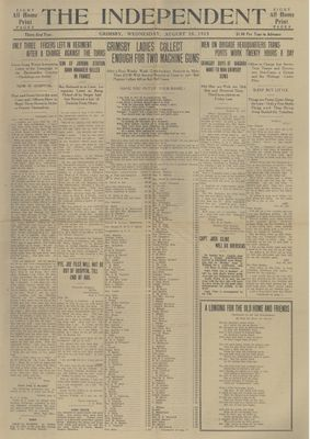Grimsby Independent, 18 Aug 1915
