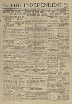 Grimsby Independent, 17 Nov 1915