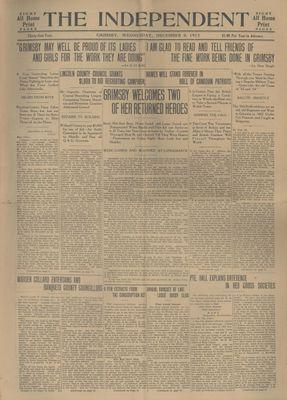 Grimsby Independent, 8 Dec 1915