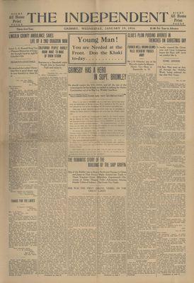 Grimsby Independent, 19 Jan 1916