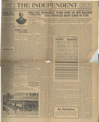 Grimsby Independent, 22 Mar 1922