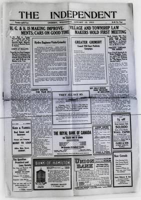 Grimsby Independent, 15 Jan 1913