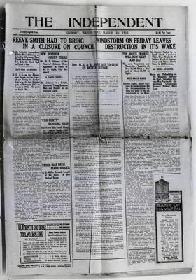 Grimsby Independent, 26 Mar 1913