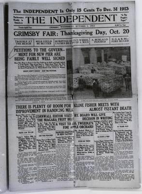 Grimsby Independent, 1 Oct 1913