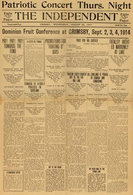 Grimsby Independent, 26 Aug 1914