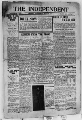 Grimsby Independent, 8 Nov 1916