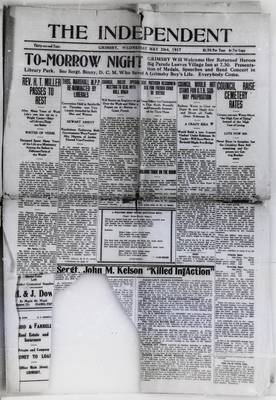 Grimsby Independent, 23 May 1917