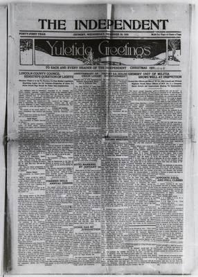 Grimsby Independent, 23 Dec 1925