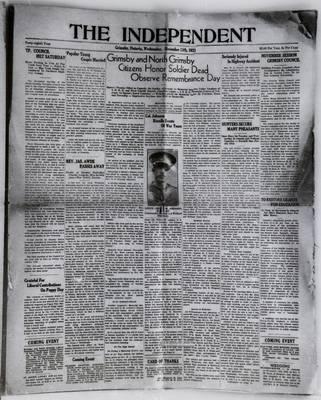 Grimsby Independent, 15 Nov 1933