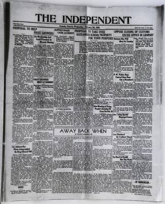 Grimsby Independent, 5 Feb 1936