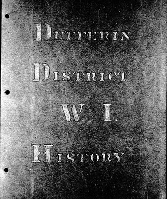 Dufferin District Branch Tweedsmuir History