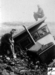 Euclid Truck on its Side (~1945)