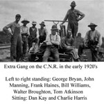 Extra Gang on CNR (1920's)
