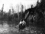 Canoeing on Upper Manitou Lake (~1914)