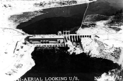 Lac Seul Dam - aerial view (1957)