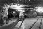 GECO Mine Underground - Man Driving Ore Train