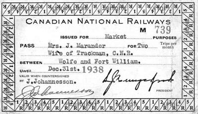 C.N.R Ticket(1938)