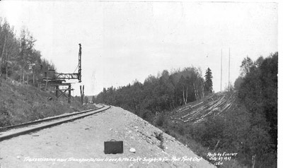Power Lines and CPR Train Tracks (1937)