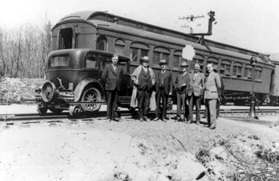 Canadian National Executives in Red Rock (1937)