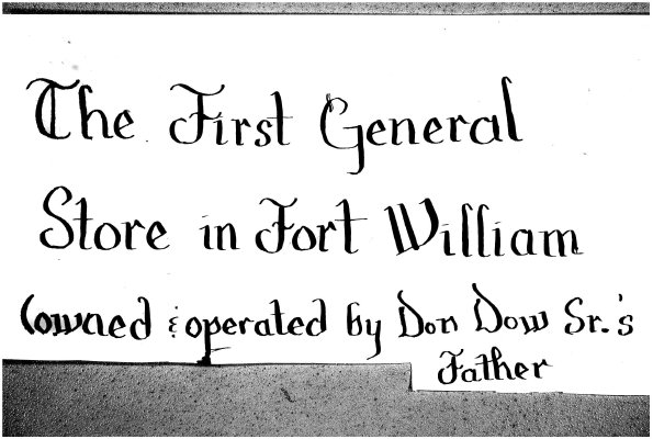 Records of a Fort William General Store, McLaurin & Dow