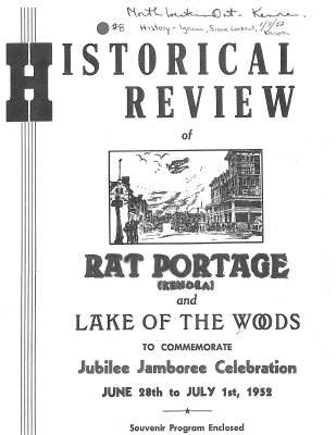 Historical Review of Rat Portage