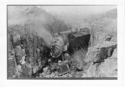 Unidentified train wreck