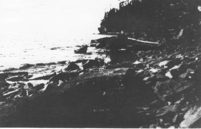 Pie Island's Rocky Shore