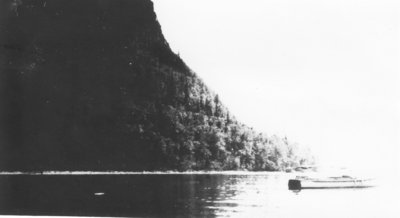 "Boat - ""Ida May"" anchored in Echo Bay."