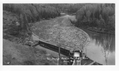 The Storage pond on the Black River, Heron Bay, Ontario