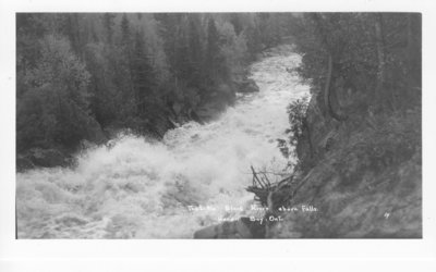 The Little Black River above Falls, Heron Bay, Ontario