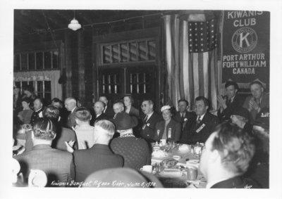 Kiwanis Banquet, Pigeon River, June 8, 1938