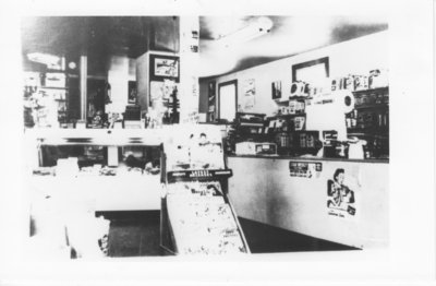 Inside of Klamie's store in Nolalu - 1950