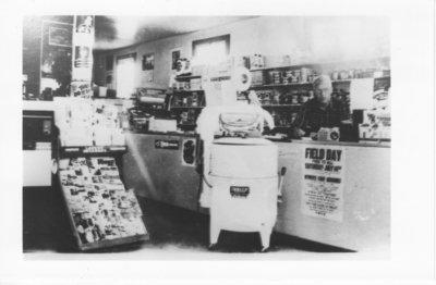 Inside of Klamie's store in Nolalu - 1950