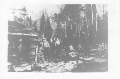 Bush camp in the 1930's where the men were batching (Nolalu)