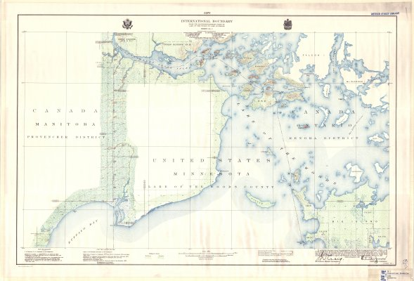 International Boundary : From the Northwesternmost point of Lake of the Woods to Lake Superior --  Sheet No. 1