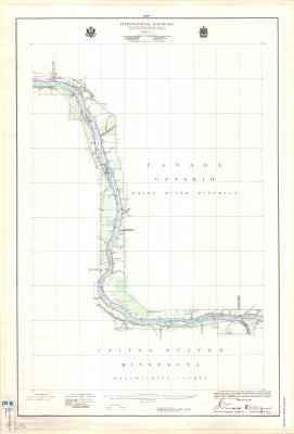 International Boundary from the Northwesternmost point of Lake of the Woods to Lake Superior -- Sheet No. 7