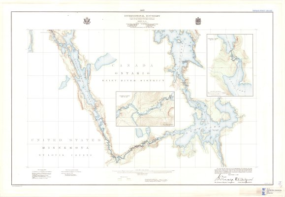 International Boundary from the Northwesternmost point of Lake of the Woods to Lake Superior -- Sheet No. 16
